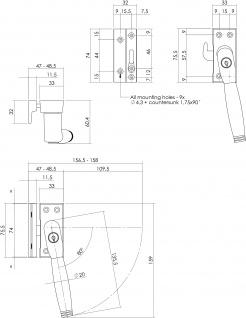 Intersteel Fensterverriegelung abschließbar SKG* rechts Ton 222 Nickel/Ebenholz - Vorschau 2