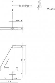Intersteel Hausnummer 4 mattschwarzes Titan PVD - Vorschau 2
