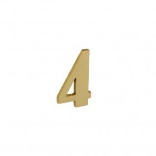 Intersteel Hausnummer 4 Messing lackiert