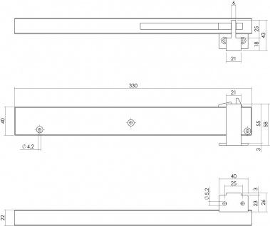 Intersteel Schliessverzögerung für Schiebetüren matt-schwarz - Vorschau 2