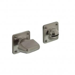 Intersteel Rosette mit Toiletten-/Badezimmerverriegelung quadratisch basic Nickel matt