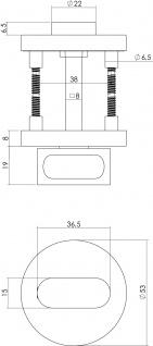 Intersteel Rosette mit Toiletten-/Badezimmerverriegelung rund Nocken Edelstahl gebürstet - Vorschau 2