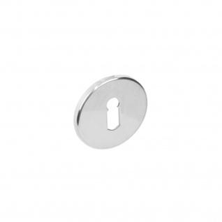 Intersteel Rosette rund flach verdeckt mit Schlüsselloch Edelstahl poliert