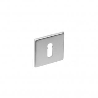 Intersteel Rosette quadratisch flach mit Schlüsselloch gebürsteter Edelstahl