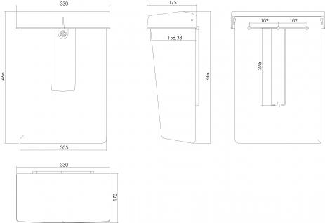 Intersteel Briefkasten Aluminium - Vorschau 2