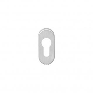 Intersteel PZ-Schutzrosette oval verdeckt Edelstahl gebürstet 10 mm