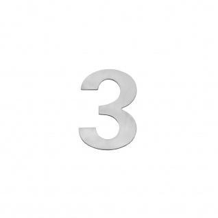 Intersteel Hausnummer 3 150 x 2mm gebürsteter Edelstahl