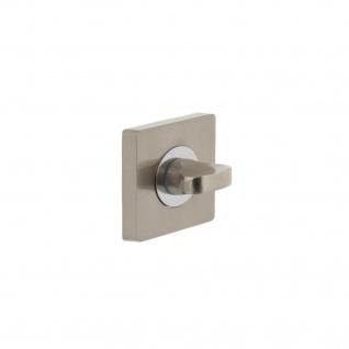 Intersteel Rosette mit Toiletten-/Badezimmerverriegelung quadratisch Chrom/Nickel matt