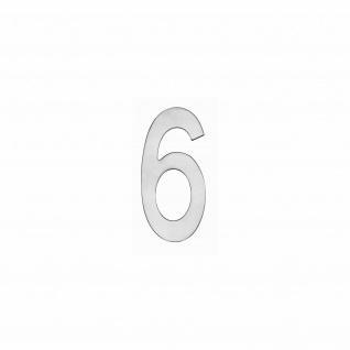 Intersteel Hausnummer 6 150 x 3mm gebürsteter Edelstahl