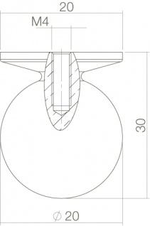 Intersteel Möbelknauf ø 30 mm rund Chrom - Vorschau 2