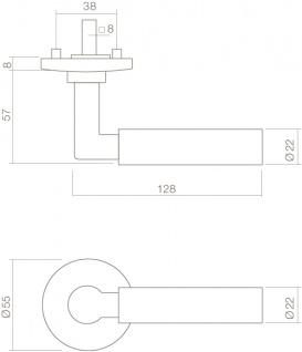 Intersteel Türklinke Bau-Stil auf Rosette Chrom - Vorschau 2