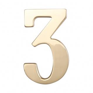 Hausnummern Messing poliert, Ziffer: 3