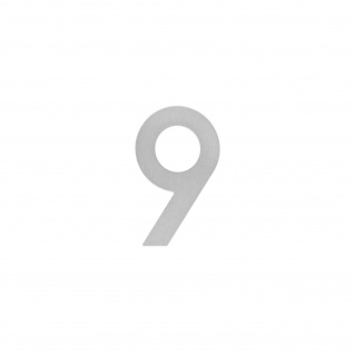Intersteel Hausnummer 9 200 mm Edelstahl gebürstet - Vorschau 1