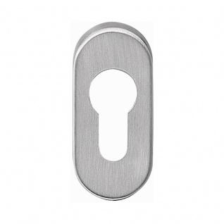 Corona Kugelknopf fest auf Rosette oder als Knopflochteil für Profiltüren, Edelstahl matt, Rosette PZ, DIN