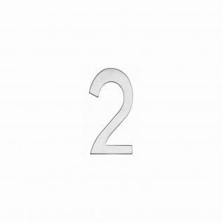 Intersteel Hausnummer 2 150 x 3mm gebürsteter Edelstahl