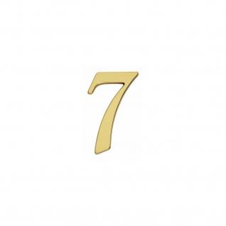 Intersteel Hausnummer Gotisch 7 Messing lackiert