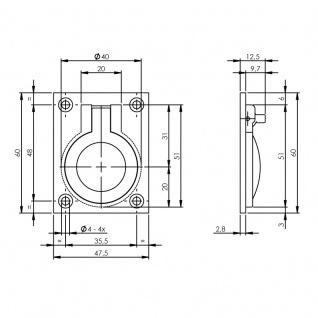Intersteel Einbauring 47 x 60 mm Nickel - Vorschau 2