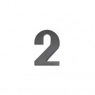 Intersteel Hausnummer 2 mattschwarzes Titan PVD
