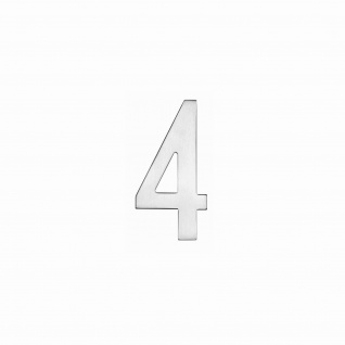 Intersteel Hausnummer 4 150 x 3mm gebürsteter Edelstahl