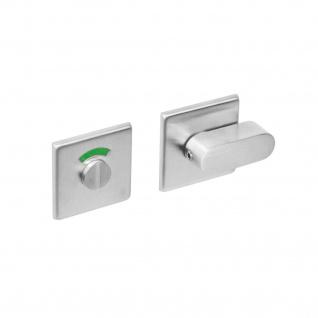 Intersteel Rosette mit Toiletten-/Badezimmerverriegelung quadratisch Edelstahl gebürstet
