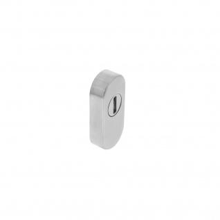 Intersteel Sicherheits-Schubrosette oval mit Rillenplatte Edelstahl gebürstet