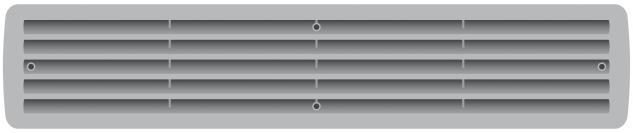 Türlüftung Türgitter Kunststoffgitter Lüftung Aluminium und weiteren Farben im Shop