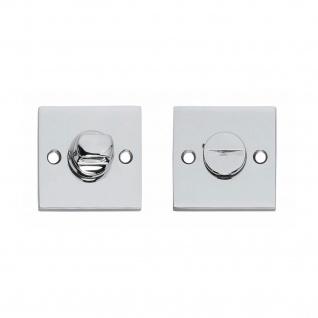 Intersteel Rosette quadratisch mit Toiletten-/Badezimmerverriegelung Chrom