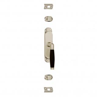 Intersteel Fenster-Stangenschloss Ton 222 links Nickel matt/Ebenholz