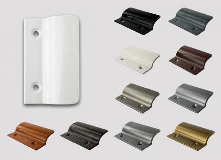 Balkontürgriff Ziehgriff Terrassentürgriff aus Metall - weiß - Länge 62 mm