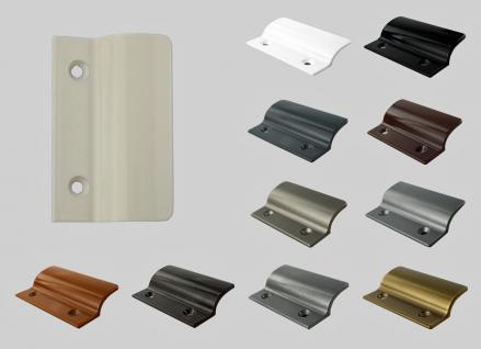 Balkontürgriff Ziehgriff Terrassentürgriff aus Metall - cremeweiß - Länge 62 mm