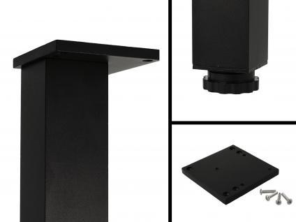 4er Set Tischbeine Möbelfüsse Tischfuß Eckig 60mm x 60mm in diverse Farben 710mm