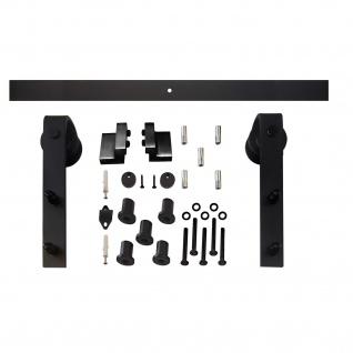 Intersteel Schiebetür System 2000mm, Rollwagen gerade 290mm, matt-schwarz