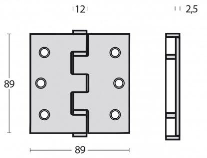 Intersteel Kugellagerscharnier gerade bis 70 kg, Edelstahl poliert - Vorschau 2