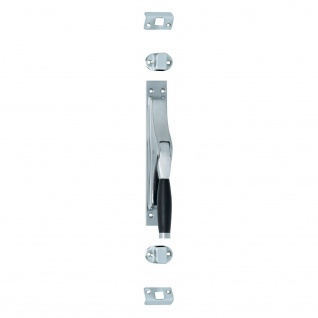 Intersteel Tür-Stangenschloss Ton 222 Chrom matt/Ebenholz
