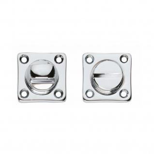 Intersteel Rosette mit Toiletten-/Badezimmerverriegelung quadratisch Chrom - Vorschau 1