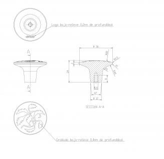 Vintage Möbelknopf Schrankknopf Schubladenknopf Küchengriff Messing Rustikal gebürstet aus Metall ø 36mm - Vorschau 4