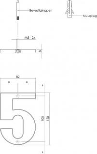 Intersteel Hausnummer 5 Chrom - Vorschau 2
