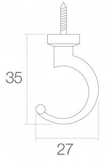 Intersteel Kleiderhaken 35 mm Messing lackiert - Vorschau 2