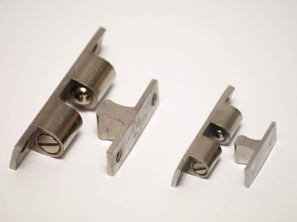 Doppelkugelschnäpper Schnapper Kugelschnäpper Messing verchromt 60mm x 13mm