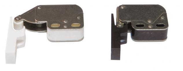 Federschnäpper Mini-Latch Druckverschluß Federschnappverschluß Weiß