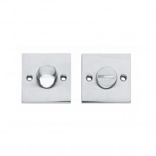 Intersteel Rosette mit Toiletten-/Badezimmerverriegelung quadratisch groß Chrom matt