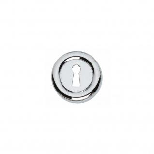 Intersteel Rosette Cali mit Schlüsselloch rund Chrom