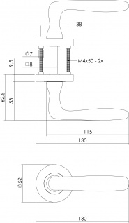 Intersteel Türklinke Bjorn auf PZ-Schutzrosette Nickel matt - Vorschau 2
