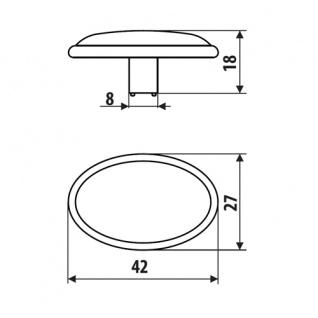 Möbelknopf Schubladenknopf Küchenknopf Knopf Küchengriff antik Messing Höhe 18mm - Vorschau 5