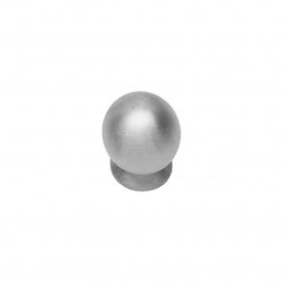 Intersteel Möbelknauf ø 25 mm kugelförmig mit Unterlegplatte Edelstahl gebürstet - Vorschau 1