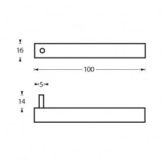 Intersteel Handtuch-/Kleiderhaken gebürsteter Edelstahl - Vorschau 2