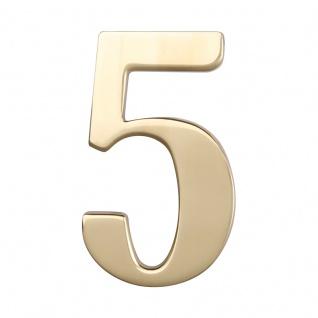 Hausnummern Messing poliert, Ziffer: 5