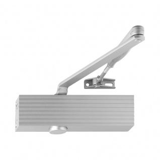 Türschließer TS 15 Scherengestänge, silber, stufenlos einstellbare Schließgeschwindigkeit