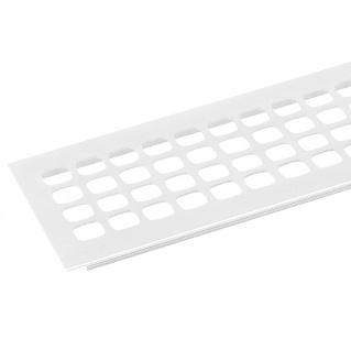 Lüftungsprofil weiß beschichtet Quadratlochung Leichtmetall weiß beschichtet, Einbaufertig, Profilbreite 100 mm, 400 mm