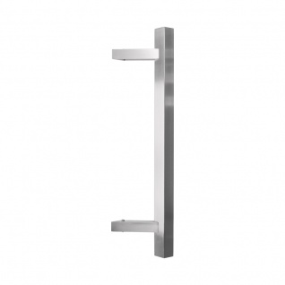 Stossgriff Quadro Edelstahl matt, Länge: 600 mm, LA: 400 mm - Vorschau